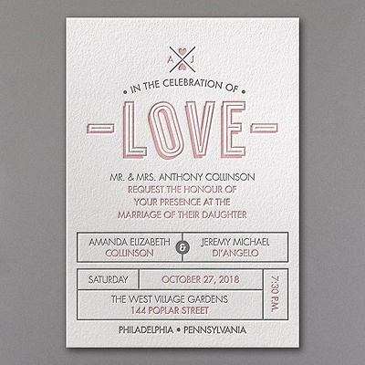 Love Letterpress Invitation