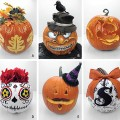 Creative ideas for decorating and carving unique pumpkins for Halloween