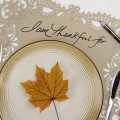 Use placemats as a way for family to tell you what they're thankful for