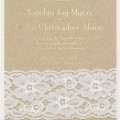 Pretty Rustic wedding invitation