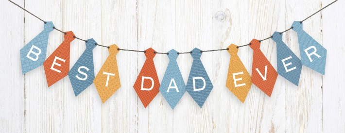 You'll crush on: free printable Father's Day tie banner