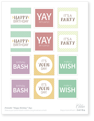 Printable happy birthday tags