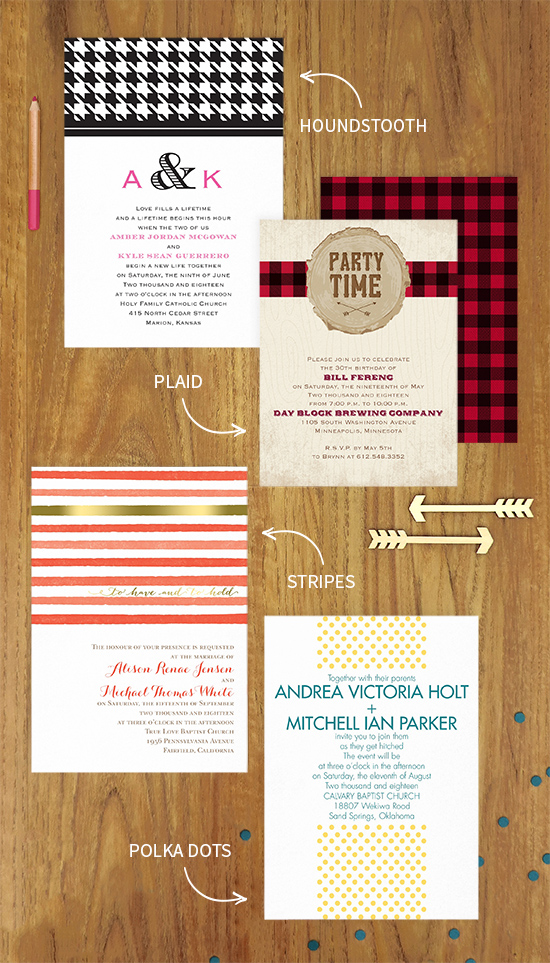 Patterns: from the runway to your invitations!