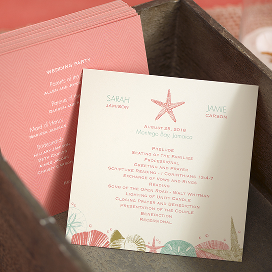 Don't forget! Top things to include on your wedding program