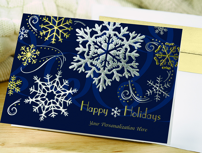We're loving: snowflake holiday cards
