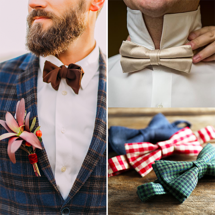 Bow ties: what's cool at weddings