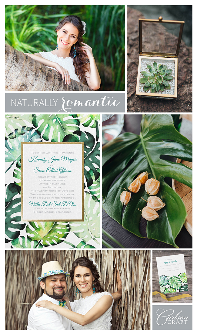 We're Loving: Naturally Romantic Invitations