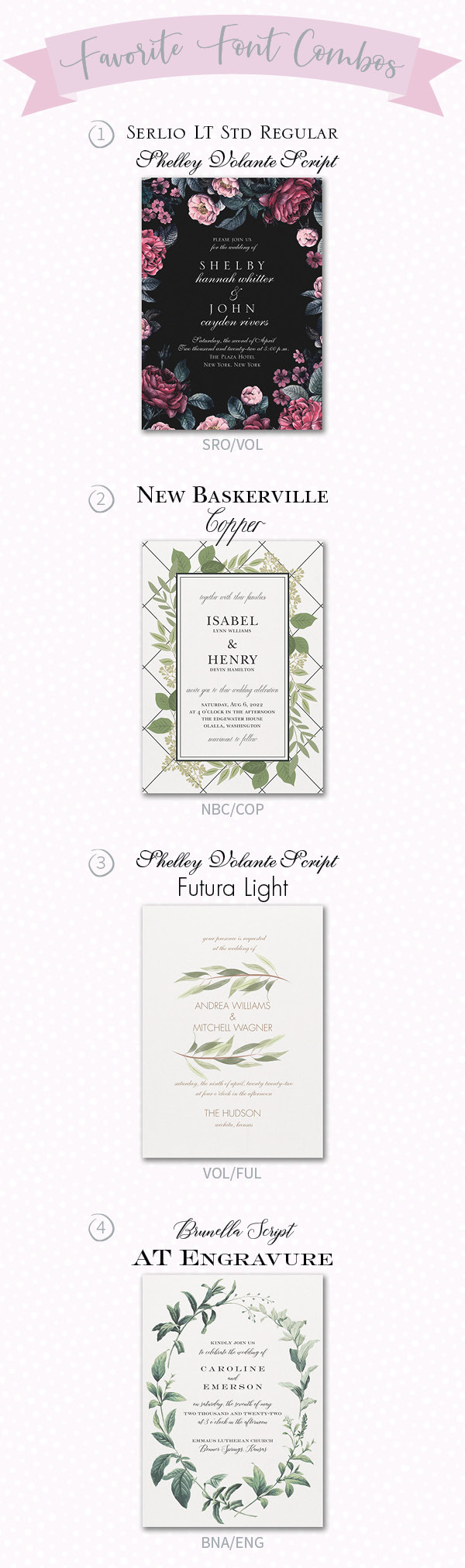 Using Fonts to Enhance the Look of Your Wedding Invitations