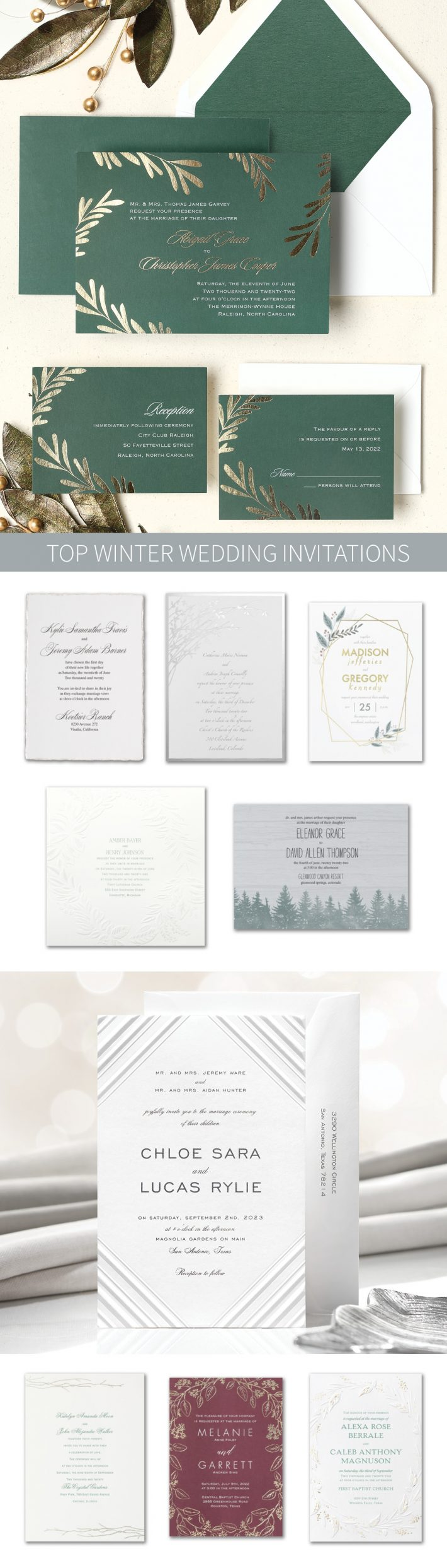 Top Winter Wedding Invitations